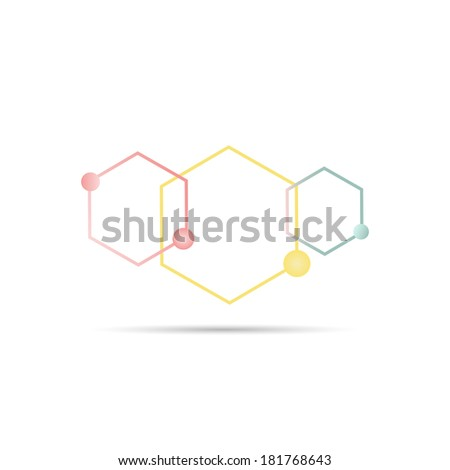 Peptide Chain. - stock photo