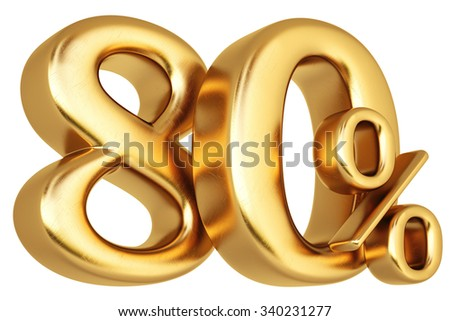 percent discount from gold. isolated on white background. - stock photo