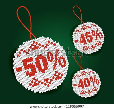 Percent price tags - stock photo
