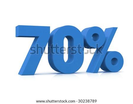 Percentage, 70% - stock photo
