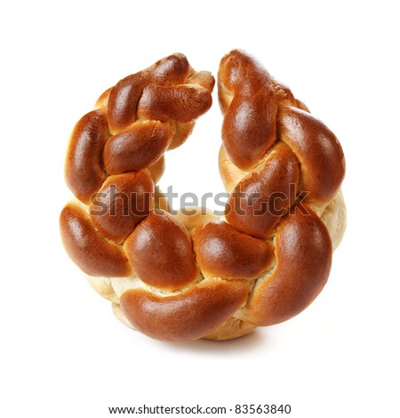 Perfect and delicious twirl, on white background. - stock photo