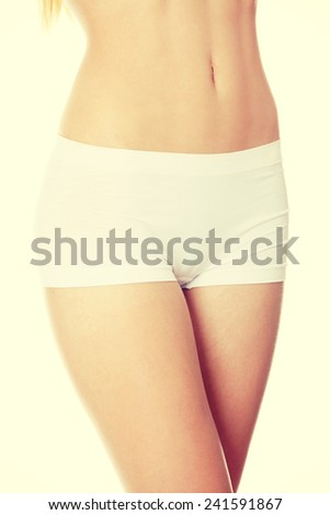 Perfect beautiful body of young girl. - stock photo