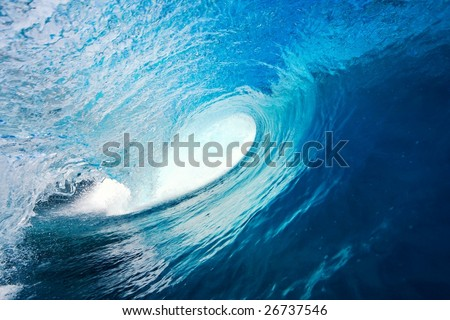 Perfect Blue Wave - stock photo