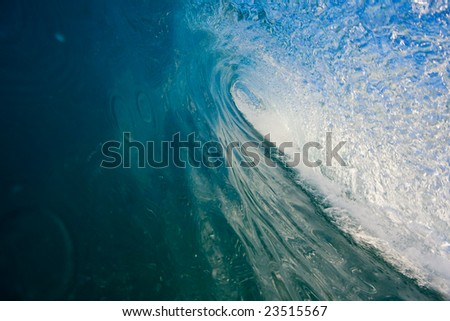 Perfect Blue Wave, In the Tube - stock photo