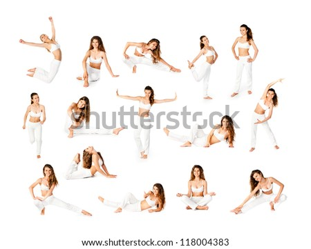 Perfect body of a young women in the studio - stock photo