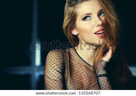 Perfect brunette beauty - stock photo