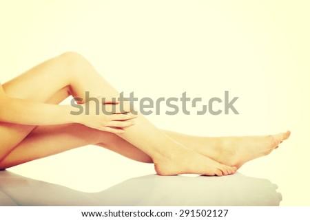 Perfect female legs, healthy legs - stock photo