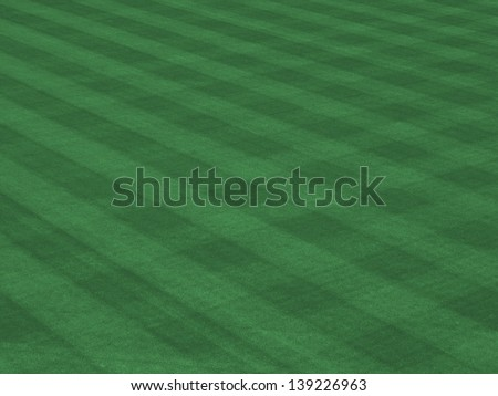 Perfect Grass Showing Mow Patterns at Major League Ballpark - stock photo