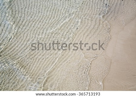 Perfect white sand and crystal water beach, koh rong, cambodia - stock photo
