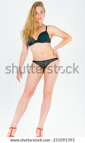 Perfection and Elegance Tempting Lady  - stock photo