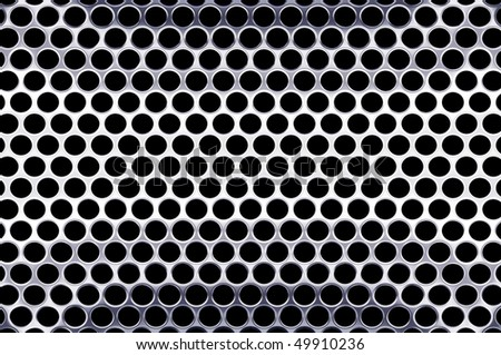 perforated metal plate 2 - stock photo