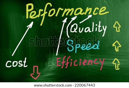 performance concept - stock photo