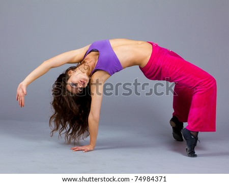 Performer Exercising Fitness - stock photo