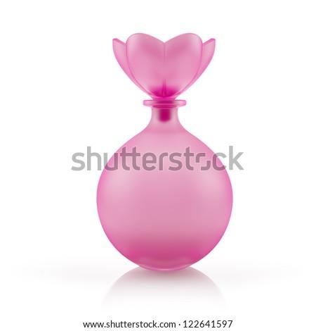 Perfume bottle. - stock photo