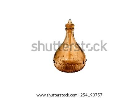 perfume bottle isolate on white - stock photo