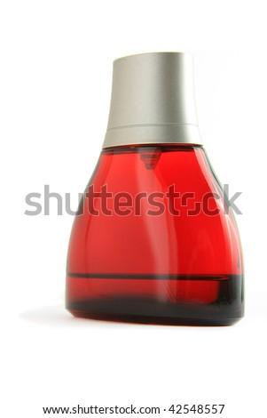 Perfume bottle isolated - stock photo
