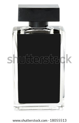 perfume bottle isolated (with clipping path) - stock photo
