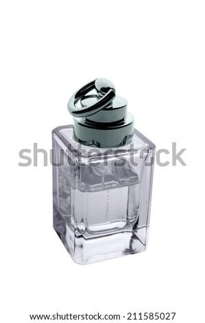Perfume bottle on white.  - stock photo