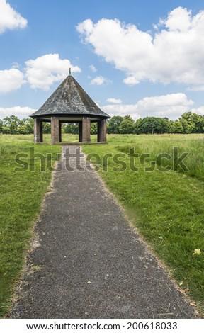 Pergola in the summer Hyde Park, London, UK - stock photo