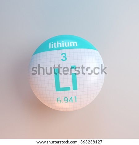 periodic table of elements lithium - stock photo