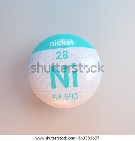 periodic table of elements nickel - stock photo