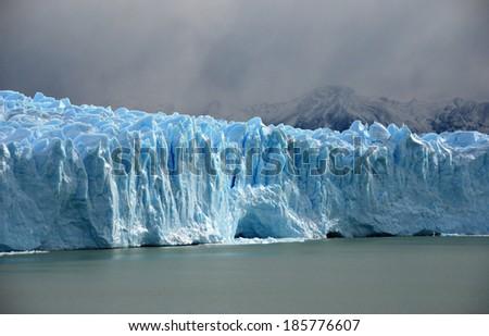 Perito Merino Glacier - Big Ice tour,  Glaciers National Park,  El Calafate, Argentina - stock photo