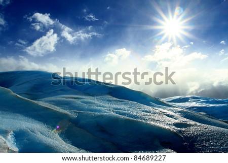 Perito Moreno glacier, el calafate, patagonia argentina - stock photo
