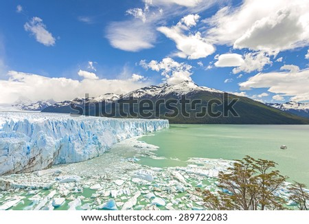 Perito Moreno Glacier in Argentina. - stock photo