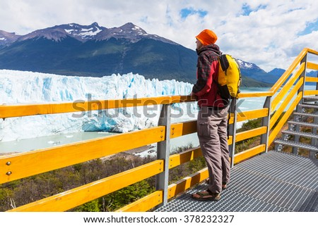 Perito Moreno glacier in Argentina - stock photo