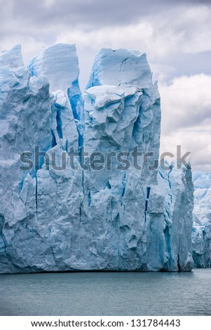 Perito Moreno glacier in Argentina close up - stock photo