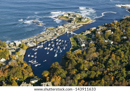 Perkins Cove near Portland, Maine - stock photo