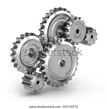 Perpetuum mobile : Gears - stock photo