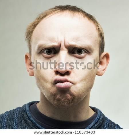 Perplexed real man - stock photo