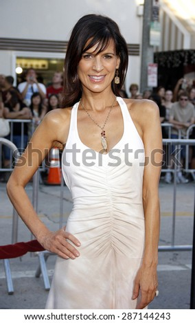 Perrey Reeves at the Los Angeles premiere of 'The Change-Up' held at the Regency Village Theatre in Westwood on August 1, 2011.  - stock photo