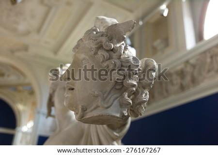 Perseus and Medusa, marble statues, Carlsberg museum - stock photo