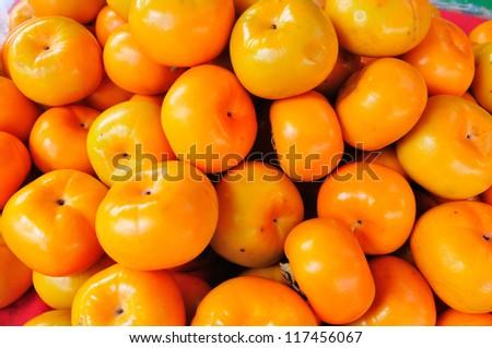 Persimmon fruit - stock photo