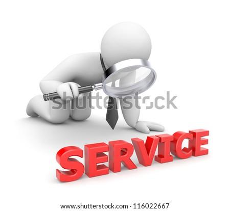 Person examines service - stock photo