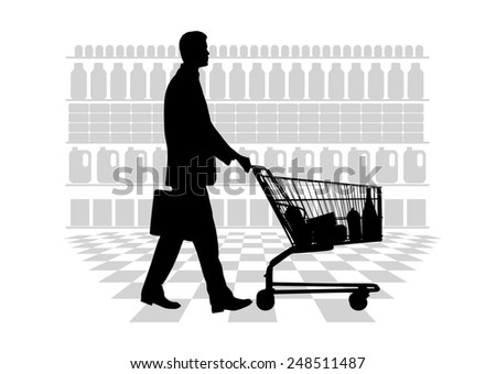 person making purchases - stock photo