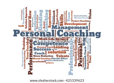 Personal coaching word cloud - stock photo