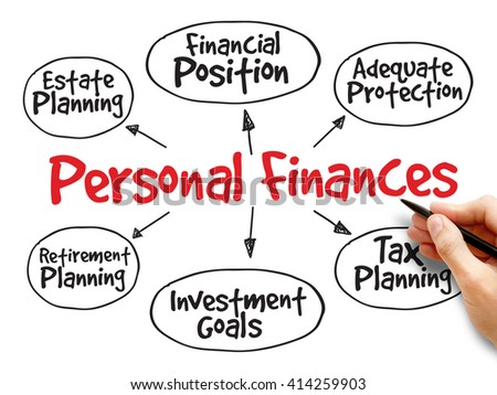 Personal finances strategy mind map, business concept - stock photo