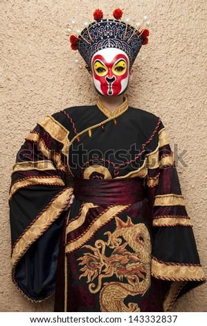 personal in chinese opera costume - stock photo