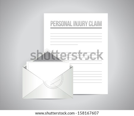 personal injury claim illustration design over a white background - stock photo