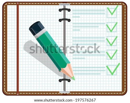 Personal Organizer, illustration - stock photo
