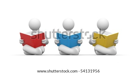 Persons read the book - stock photo