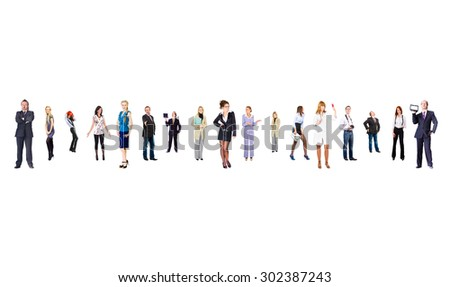 Perspective Concept Standing Together  - stock photo