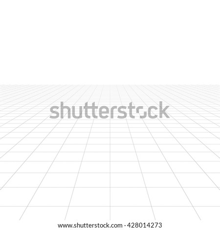 Perspective grid over white background. 3D rendering. - stock photo