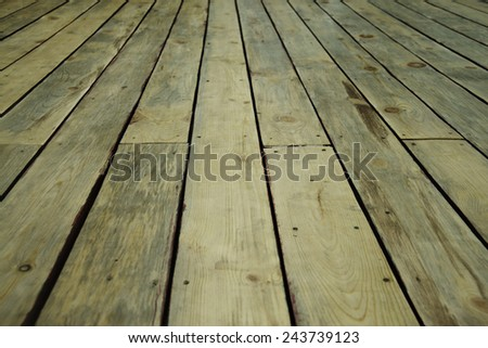 perspective natural background Wooden floor texture made from fresh new wood with seams between board Empty backdrop  - stock photo