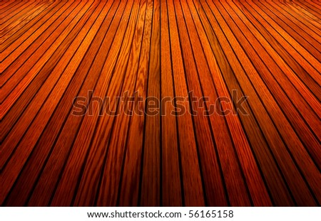 perspective view of wood plank - stock photo