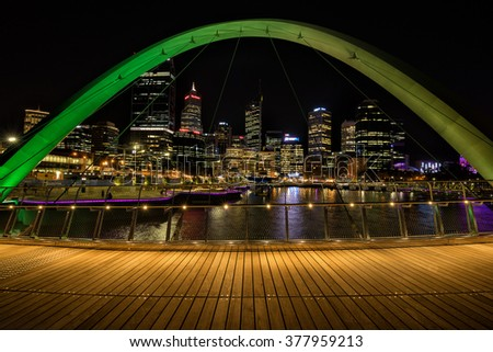 Perth,WA,Australia on 10th Feb 2016:Elizabeth Quay is a major Western Australian development project in the Perth CBD. Located on the north shore of Perth Water and centred on the landmark Swan Bells - stock photo