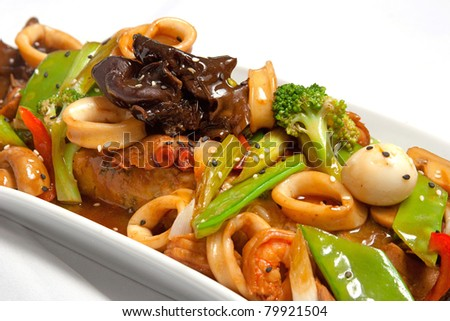 Fusion food stock photos images pictures shutterstock for Art of peruvian cuisine
